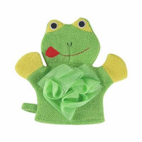 Mosunx 1 Pc Compound Cotton Children Bath Rub Gloves Shower Body Wash Puff Mesh