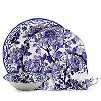 Gien France Piviones Bleu Cereal Bowl