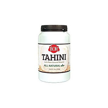 LiOR Tahini, All Natural 100% Pure Ground Sesame, 16 Ounce Jar