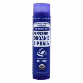 Dr. Bronners - Magic Organic Lip Balm Peppermint - 0.15 oz. (pack of 6)