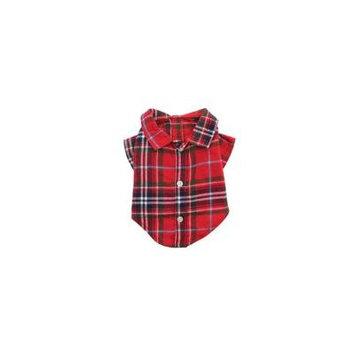 Worthy Dog Red Plaid Dog Shirt Large