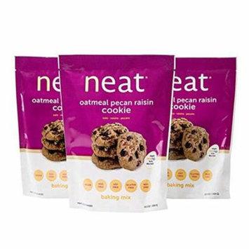 neat - Vegan - Oatmeal Pecan Raisin Cookie Mix (9.5 oz.) (Pack of 3) - Non-GMO, Gluten-Free, Soy Free, Baking Mix