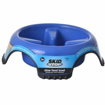JW Pet Skid Stop Slow Feed Bowl Jumbo - 13 Wide x 3.75 High (10 cups) - Pack of 6