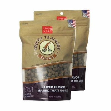 Cloud Star Chewy Tricky Trainers Liver 14 oz Dog Treats 2 Pack