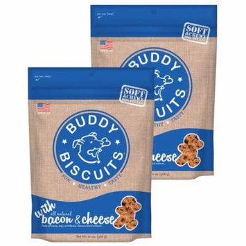 Cloud Star Buddy Biscuits 20 oz Soft & Chewy Dog Treats - Bacon & Cheese 2 Pack