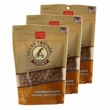 Cloud Star Chewy Tricky Trainers Cheddar 14 oz Dog Treats 3 Pack