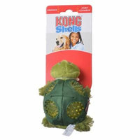 Kong Shells Textured Dog Toy - Turtle Small - 1 Pack - Pack of 4