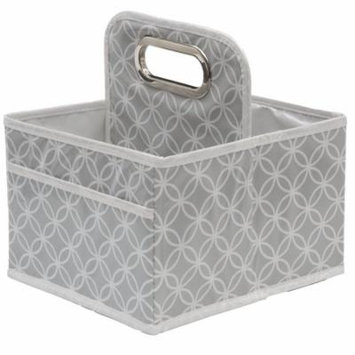 Delta Children Water-Resistant Portable Nursery Caddy, Grey Infinity