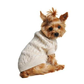Cable Knit Dog Sweater by Doggie Design - Oatmeal 2X-Large