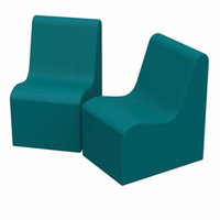 SoftZone® Wave Youth Chair 2-Pack - Seafoam