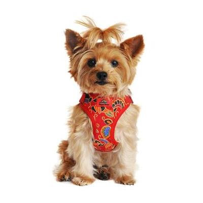 Wrap and Snap Choke Free Dog Harness - Tahiti Red X-Small