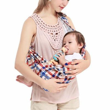 Infant Wrap Carrier, Aniwon Breathable Soft Cotton Plaid Pattern Newborn Carrier Baby Back Wrap Infant Sling Carrier Nursing Cover Great Baby Gift