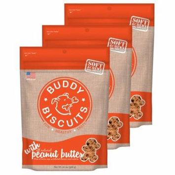 Cloud Star Buddy Biscuits 20 oz Soft & Chewy Dog Treats - Peanut Butter 3 Pack