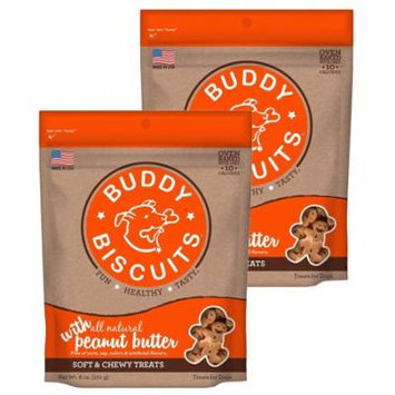 Cloud Star Buddy Biscuits 6 oz Soft & Chewy Dog Treats - Peanut Butter 2 Pack