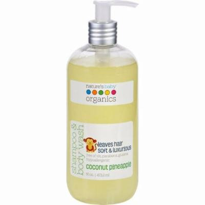 Nature's Baby Organics Shampoo And Body Wash - Coconut Pienapple - 16 Oz