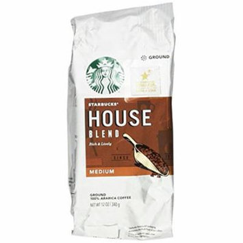 Starbucks, Medium Roast, House Blend, Ground Coffee, 12oz Bag (Pack of 2)