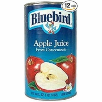 12 PACKS : Bluebird Unsweetened Apple Juice, 46-Ounce Cans