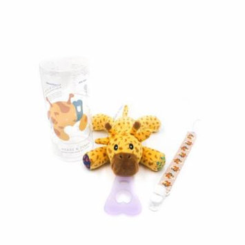 Nissi & Jireh 5 In 1 Pacifier holder plush toy Teether, Giraffe