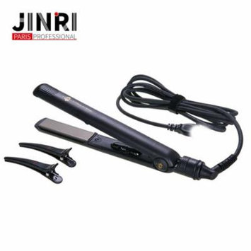 Professional Salon Flat Iron Ionic 1-Inch Plate Hair Straightener Splint Curler with LED indicator