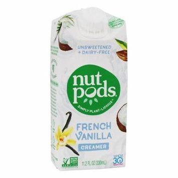 Unsweetened + Dairy-Free Creamer French Vanilla - 11.2 oz. by nutpods (pack of 4)