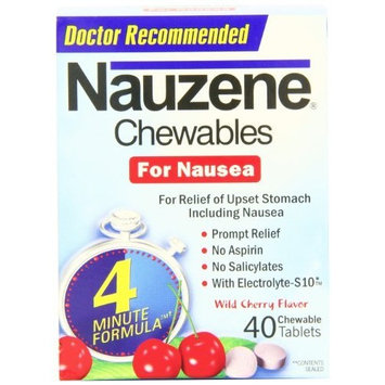 Nauzene Upset Stomach Relief for Nausea, Wild Cherry Flavor, 40 Chewable Tablets (Pack of 3) Personal Healthcare / Health Care