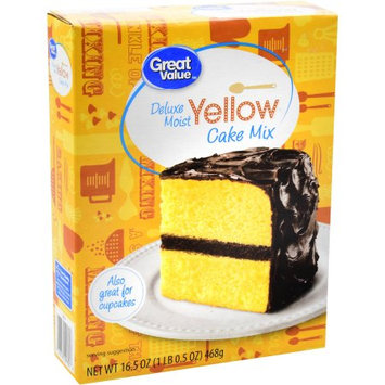 Great Value Deluxe Moist Yellow Cake Mix, 16.5 oz