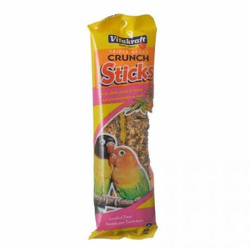 Vitakraft Lovebird Crunch Sticks - Whole Grains & Honey 2 Pack - (5.7 oz) - Pack of 12
