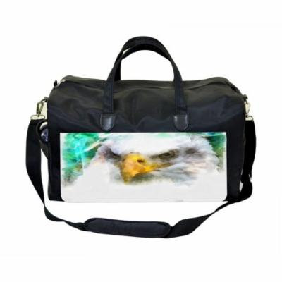 Eagle Art Large Black Duffel Style Diaper Baby Bag
