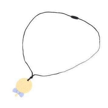 Pretty See Silicone Teething Pendant Practical Sensory Teether Pendant Body-safe Silicone Teether Necklace Multi-functional Chew Teether Toys with Lollipop Shape, Set of 2