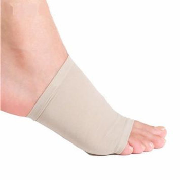 Premium Foot Arch Support Compression Sleeve Shock Absorbing Cushion Insert Massager Pad - 2 Units