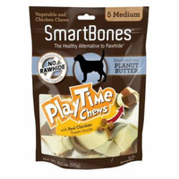 SmartBones PlayTime Chews for Dogs - Peanut Butter Medium - 5 Pack - (2