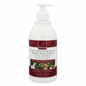 Goat's Milk & Argan Oil Hand & Body Lotion Freshly Original - 13.52 fl. oz. by Janice Skincare (pack of 2)