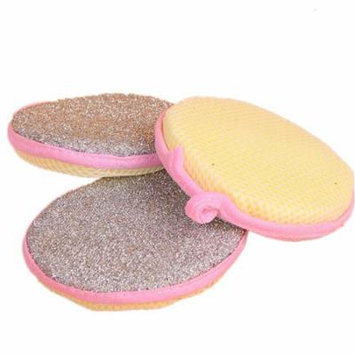 Mosunx Double Side Kitchen Cleaning Dish Washing Scouring Pad Sponge Scrubber