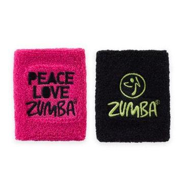Zumba Peace Love Wrist Bands, 1 Pair