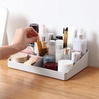 Mosunx Acrylic Makeup Organizer Pink Cosmetic Case Diamond Pattern Storage boxes