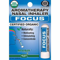 Sponix Aromatherapy Nasal Inhaler - Focus - 0.7 mL - USDA Organic, Made from 100% Pure and Natural Essential Oils