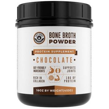 Left Coast Performance 16oz Left Coast Bone Broth Protein Powder Chocolate, Grass Fed - Non-GMO, Gut-Friendly, Dairy Free Protein Powder