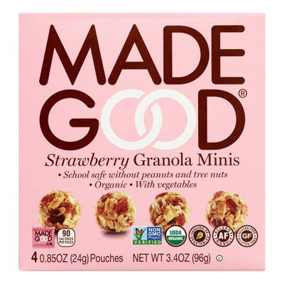 Nassau Candy 966606 3.4 oz Made Good Strawberry Granola Minis - Pack of 6
