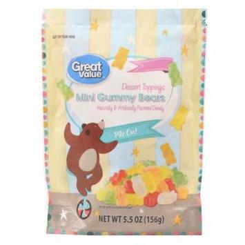 Great Value Dessert Toppings, Mini Gummy Bears, 5.5 oz