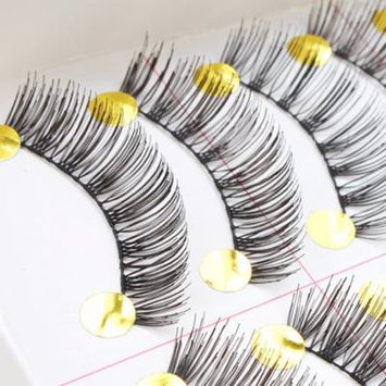 Image 10 Pair Long False Eyelashes Handmade Natural Eye Lashes