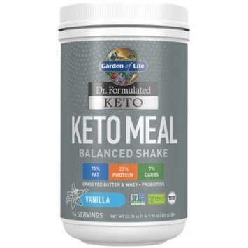 Keto Meal - VANILLA (23.7 Ounces Powder) by Garden of Life at the Vitamin Shoppe