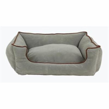 Carolina Pet 019310 Microfiber Low Profile Poly Fill Kuddle Lounge Pet Bed - Spa Blue, Medium