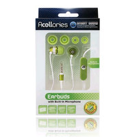 Acellories 3.5mm Universal Earbud Headsets - Green