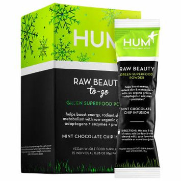 Hum Nutrition Raw Beauty To-Go Green Superfood Powder