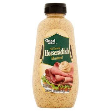 Great Value Horseradish Mustard, 12 oz