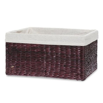 Audrey Rect Rush Mahogany Utility Basket with Liner - 13in