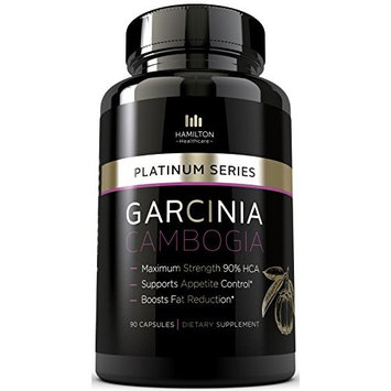 Hamilton Healthcare Platinum Series Garcinia Cambogia Extract Weight Loss Supplement with HCA (90 Pills)