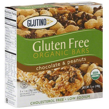 Glutino Gluten Free Chocolate & Peanuts Organic Bars