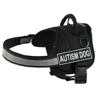 DT Works Harness, Autism Dog, Black/White, Large - Fits Girth Size: 34-Inch to 47-Inch