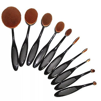 Sunvy Makeup Brushes Set Fluffiest Softest Toothbrush Makeup Brush Cosmetic Brushes For Cosmetic Foundation Cream Powder Makeup Tool, Black & Rose Gold 10pc